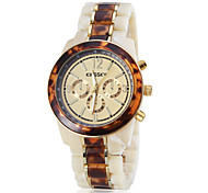 Women's Amber Pattern Ceramic Band Quartz Wrist Watch (Assorted Colors)