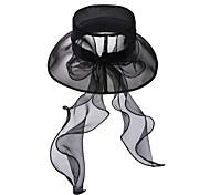 Элегантный органзы свадебное / партия / Открытый шляпа с Sequin (больше цветов)