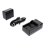 ismartdigi-JVC BN-VF823U 2250mAh, 7,4 V Kamera Akku + KFZ-Ladegerät für JVC GZ-HM1/MG830/HM400/MG575/HM85