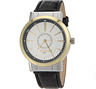 Women's Water Resistant Round Dial PU Band Quartz Analog Fashion Watch(Assorted Color)