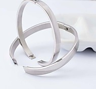 Fashion Couple  Silvery  316L Stainless Steel Bangle