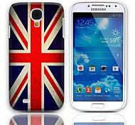 Caso duro del diseño de Jack Vintage La Unión con paquete de 3 protectores de pantalla para Samsung Galaxy S4 mini-I9190