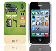 007 Kit caso duro di disegno con 3 Paia protezioni per iPhone 4/4S