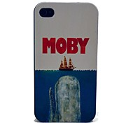 Moby Eat Ship Pattern PC Hard Case for iPhone 4/4S
