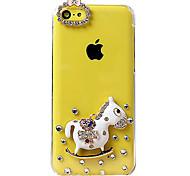 Cute Cartoon Horse Pattern Back Case for iPhone 5C