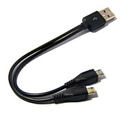 Two in One Micro USB Charger Adapter Cable for Android phones