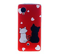 For LG Case Pattern Case Back Cover Case Cat Soft TPU LG