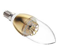 Lâmpada Vela E14 3 W 180-200 LM 6000-7000 K Branco Frio 30 SMD 3014 AC 100-240 V