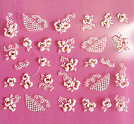 Motif 3D Design Rose Sculpture Art Nail Stickers