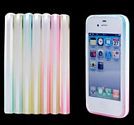 Ultra Thin Frosted TPU Single Frame Rainbow Case for iPhone 4/4S