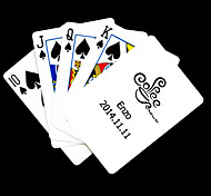 Presente personalizado Padrão de café branco do cartão de jogo para Poker