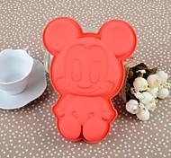 17 CM * 12,5 CM * 3 cm El cuerpo entero Rojo Mickey utensilios para hornear de silicona Cake Mould