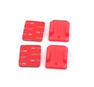 G-204-Red Curved PC Mount com a 3M Adesivo Sticker Set para GoPro 1/2/3/3 +