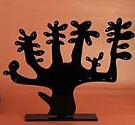 Fashion Plastic Tree Jewelry Display Stand For Earrings (Black) (1pc)