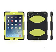 Robot Design Open-Face Plastic Case with Stand  for Apple iPad Air
