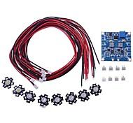 RC LED Blinklicht / Nachtlicht w / LED Board-und LED-Verlängerungskabel für Oktokopter (8 Stück)