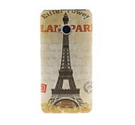 Kinston Eiffel Tower Pattern Tpu Soft Case for The New HTC One M7