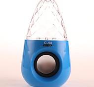 C-50 bonito desktop recarregável com um disco USB Flash & TF MP3 Player Alto-falante com FM (cores sortidas)