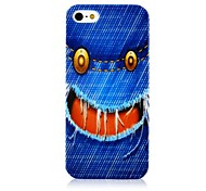 Jean Funny Face-Muster-Silikon Soft Case für iPhone5/5s