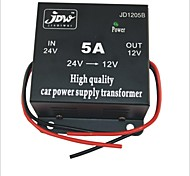 JD1205 DC 24V a 12V Power Car Converter Abastecimento - Preto