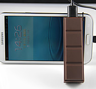 2200mAh Chocolate External Battery for Mobile Devices Brown
