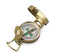 Military Style Brunton Classic Lensatic Compass-Gold