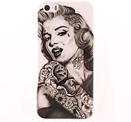 Marilyn Monroe Tattoo Muster PC Hard Case für iPhone 5/5S