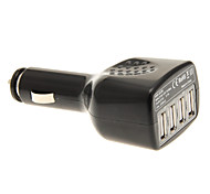 Car Cigarette Lighter Charger 4-USB-Port Adapter