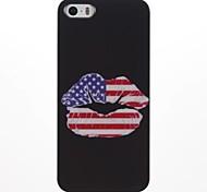 La bandiera americana Lips PC Hard Case per iPhone 5/5S