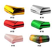 Couleurs 12PCS Mix Laser Foil Décorations Nail étoilées Nail Stickers