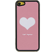 Warm Loving Heart Pattern Shimmering PC Hard Case for iPhone 5C
