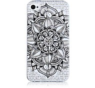 Flower Pattern Silicone Soft Case voor iPhone4/4S
