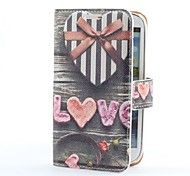 Heart Gift Box Style PU Leather Case with Card Slot and Stand for Samsung Galaxy S3 i9300