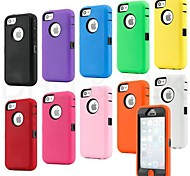Colorful Heavy Duty Hybrid Rugged Matte Hard Case Soft Cover Skin For iPhone 5C