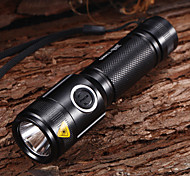 T11 Rechargeable 5-Mode 1xCree XM-L T6 Waterproof Bike Lights(1x18650,1200LM)Black