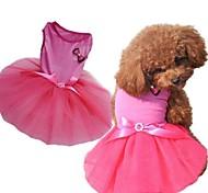 Fashion Dog Wedding Dress Net Yarn for Pets Dogs