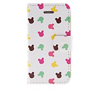 Kinston Five Colours Rabbit Pattern PU Leather Full Body Case with Stand for iPhone 4/4S