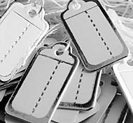 Fashion Paper Silver Edge Display Price Tags (White)(500pcs)