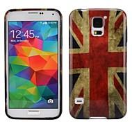 Caso liscio ultra-sottile UK Bandiera nazionale molle del gel TPU per la galassia S5 i9600 di Samsung