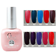 1PCS CH Soak-off Pink Bottle Glitter UV Color Gel Polish NO.61-70(15ml,Assorted Color)