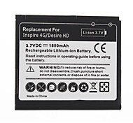 1800mAh Replacement Battery for HTC Inspire 4G/Desire HD