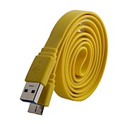 USB 2.0 macho a Micro USB 3.0 Data / Charging Cable plano para Samsung Galaxy Note N9000 3