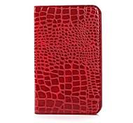Bolsa em couro de crocodilo Grain Pattern Protective PU para Samsung Galaxy Tab 3 Lite T110