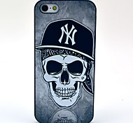 Custodia Hard Black Hat modello del cranio per iPhone 5/5S
