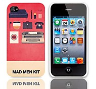Mad Man Kit Pattern Hard Case with 3-Pack Screen Protectors for iPhone 4/4S