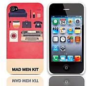 Mad Man Kit Motif Hard Case avec protection d'écran 3-Pack pour iPhone 4/4S