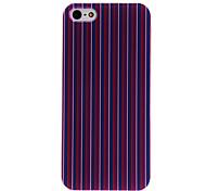 Lila und rote Streifen-Muster PC Hard Case mit transparenten Rahmen für iPhone 5/5S
