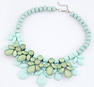 Hot Selling Candy Color Strand Statement Necklace