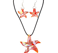 Sweet Starfish Multicolor Acrylic (Necklaces&Earrings) Crystal Jewelry Sets