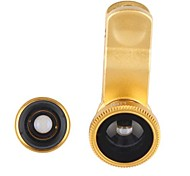 Staccabile Clip-on 180 ° Fisheye Lens Lens 3-in-1 + Macro per iPhone, iPad & Altro cellulare